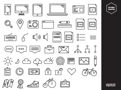 Hand Drawn Cute Icons Vector