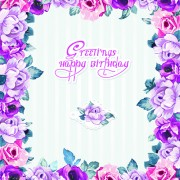Link toHappy easter flower frame background vector 01