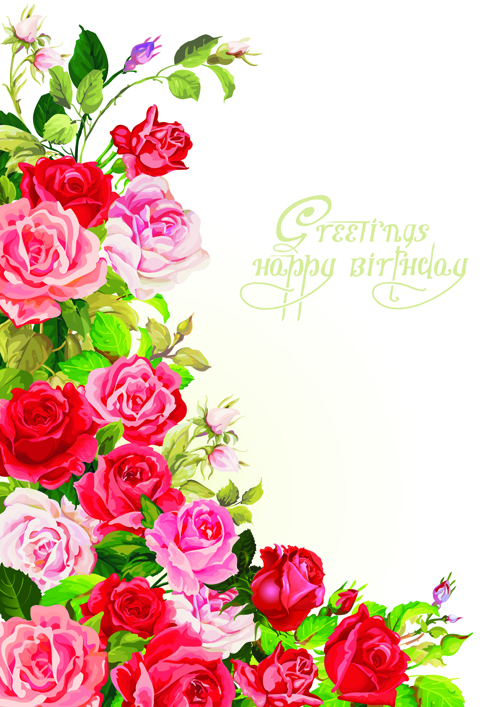 Hy Birthday Flowers Greeting Cards 02
