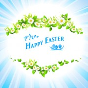 Link toHappy easter flower frame background vector 02