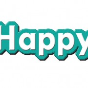 Happy text design psd material