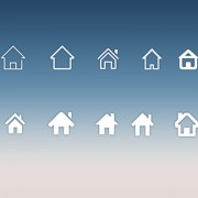 Home icons creative design psd material