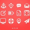 Irregular shapes cute psd web icons