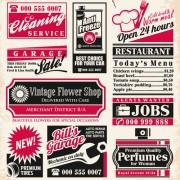 Link toCommon vintage labels vector set 01