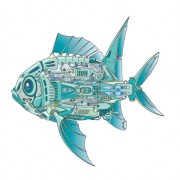 Link toMechanical fish creative design vector