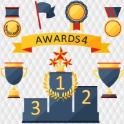 Link toMedals with cup and awards elements vector set 01