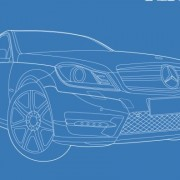 Link toMercedes-benz car creative design vector