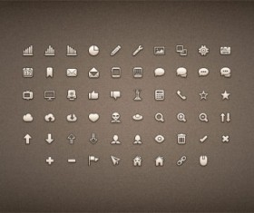 Micro brown psd icons