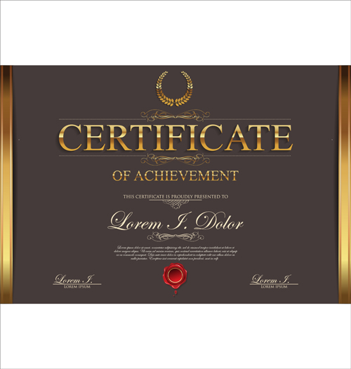 Modern Certificate Creative Template Vector 04 Free Download