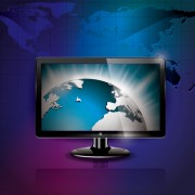 Link toModern monitor with technology vector 01
