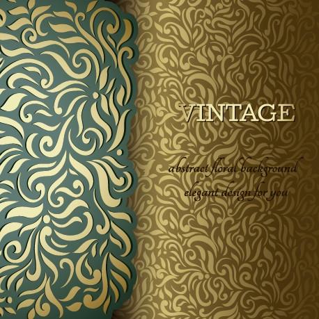 Ornate pattern vintage background graphics 02