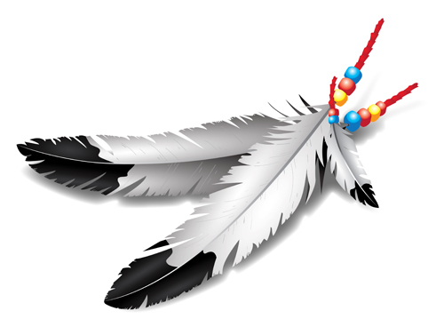 Realistic feather illustration design vector 02 - Vector ...