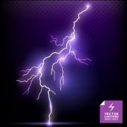 Link toRealistic lightning  effect vector background art 02