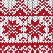 Link toRed and white fabric pattern vector