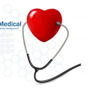 Link toRed heart and stethoscope design vector 01