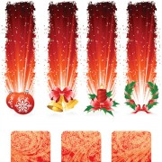 Link toRed style holiday banner vector graphics