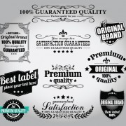 Link toRetro premium quality labels with ribbon vector 01