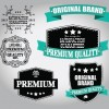 Retro Premium Quality Labels with Ribbon Vector 09