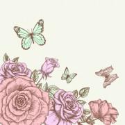 Link toRetro hand drawn flowers background design 02