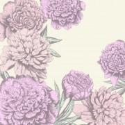 Link toRetro hand drawn flowers background design 04