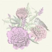 Link toRetro hand drawn flowers background design 05