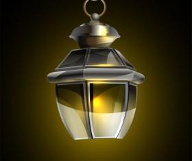 Retro lamp vector material 02