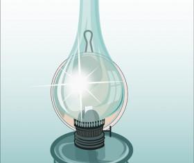 Retro lamp vector material 03
