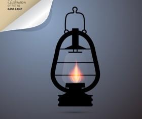 Retro lamp vector material 04