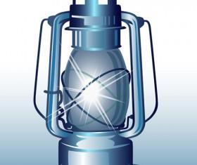 Retro lamp vector material 05