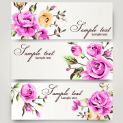 Link toRetro rose with banner design vector