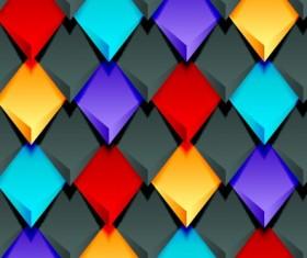 Creative pattern rhomb elements vector graphic 02