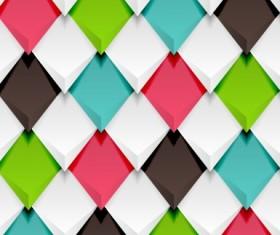 Creative pattern rhomb elements vector graphic 03