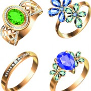 Link toRealistic rings creative design vector set 04