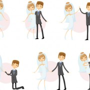 Link toRomantic bride and groom design vector 03