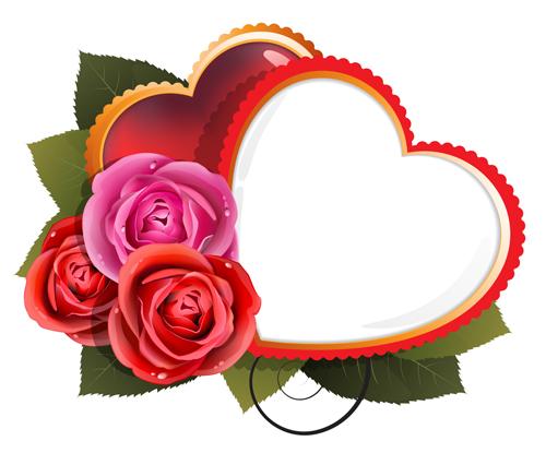 Rose with heart card design vector - Vector Card, Vector Flower ...