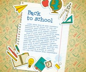 Education elements creative vector background set 05