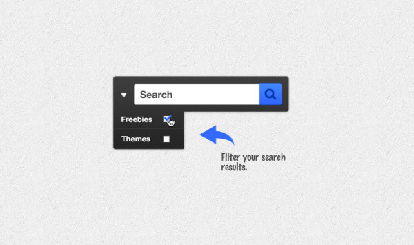 Search boxes with search menu psd