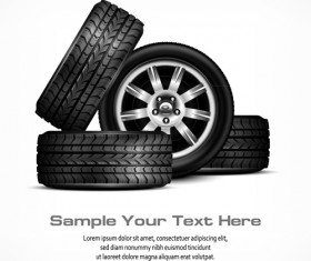 Shiny car tire background vector graphics