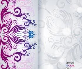 Shiny floral Invitations card design vector set 02
