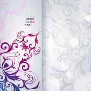 Link toShiny floral invitations card design vector set 03