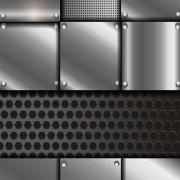 Link toShiny metal background design vector 01