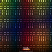 Shiny neon light pattern background vector
