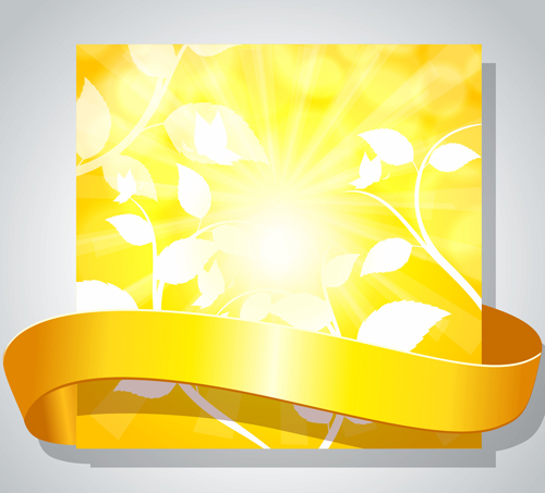 Shiny Yellow Background Vector Graphics 02 Vector