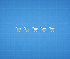 Small fine shopping cart psd icons