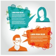 Link toSocial network business people vector 02