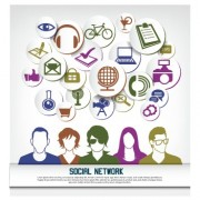 Link toSocial network business people vector 05