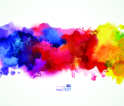 Splash Watercolor Stains Background Vector Material 04