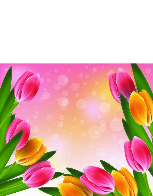 Vector Set Of Spring Flowers Design Graphics 06 Free Download