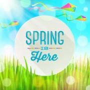 Link toShiny spring elements vector background set 02