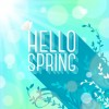 Shiny spring elements vector background set 03